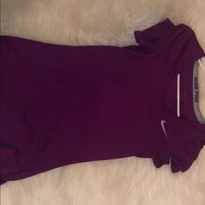 purple nike top